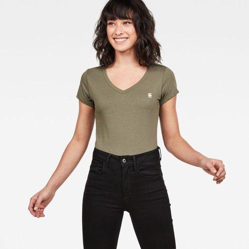 T-Shirt Col V Manches Courtes Imprimé - G-Star Raw - Modalova