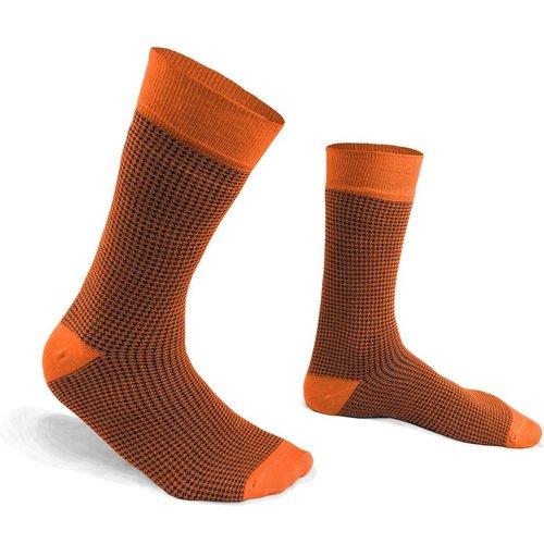 Chaussettes fantaisie coton à motifs pied de poule - THE FRENCH GAME - Modalova