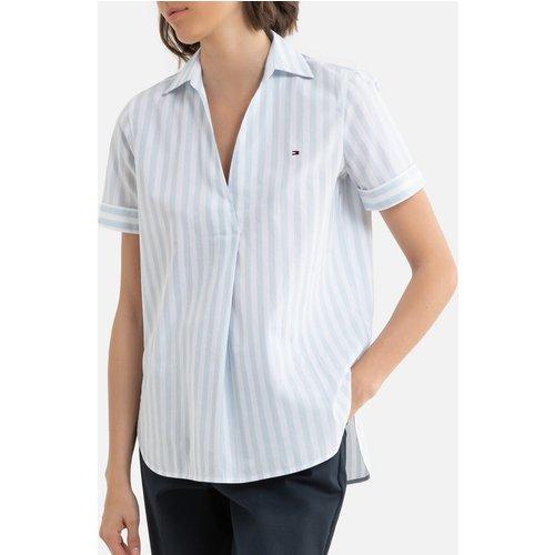 Chemise à rayures col V manches courtes - Tommy Hilfiger - Modalova