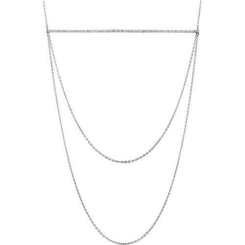Collier plastron en 925 passivé, brillants, 6.4g - Canyon - Modalova