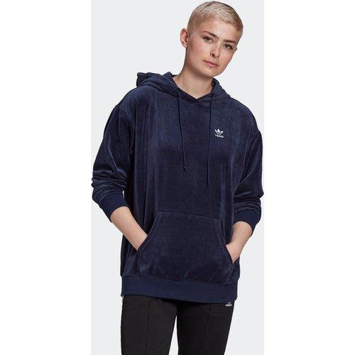 Sweat-shirt à capuche Velour Trefoil - adidas Originals - Modalova