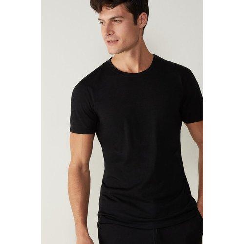 T-Shirt manches courtes en laine mérino élastique - INTIMISSIMI - Modalova
