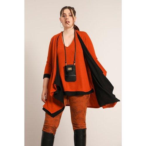 Veste en maille bicolore - JEAN-MARC PHILIPPE - Modalova
