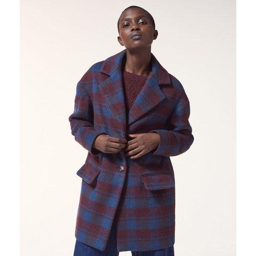 Manteau droit à carreaux COLINE - ETAM - Modalova