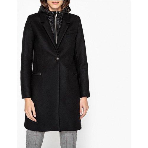 Manteau avec doublure à capuche, laine mélangée - IKKS - Modalova