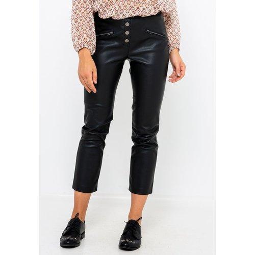 Pantalon simili cuir - CAMAIEU - Modalova