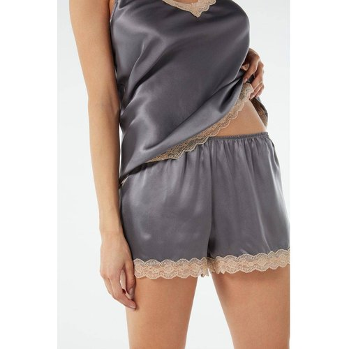 Silk satin shorts with frill inserts - INTIMISSIMI - Modalova
