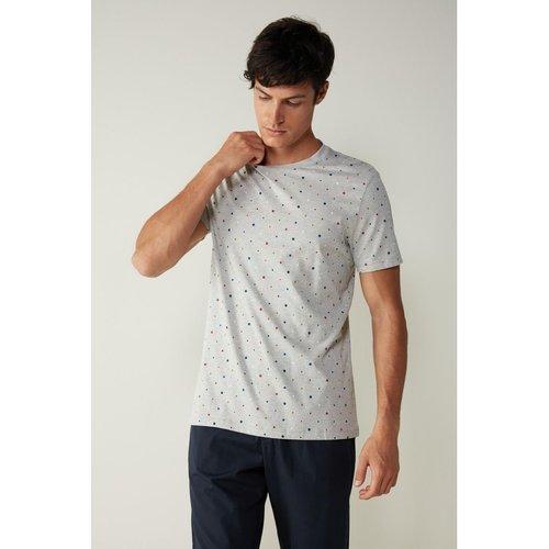T-Shirt en coton imprimé pois - INTIMISSIMI - Modalova