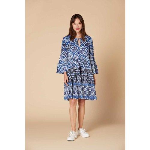 Robe courte large imprimée - Modèle Cabiou - DERHY - Modalova