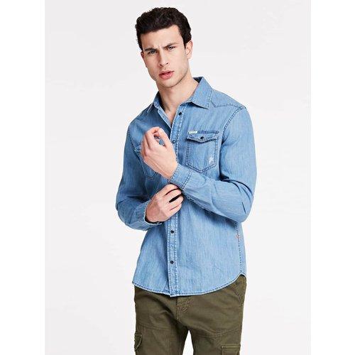 Chemise En Jeans Slim - Guess - Modalova