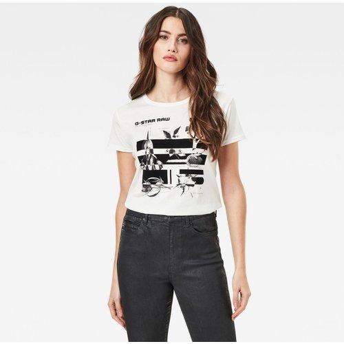 T-Shirt Col Rond Manches Courtes Imprimé - G-Star Raw - Modalova