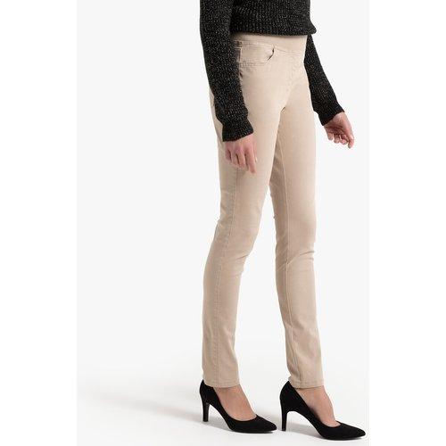 Pantalon droit, 5 poches, coton, taille élastiquée - Anne weyburn - Modalova