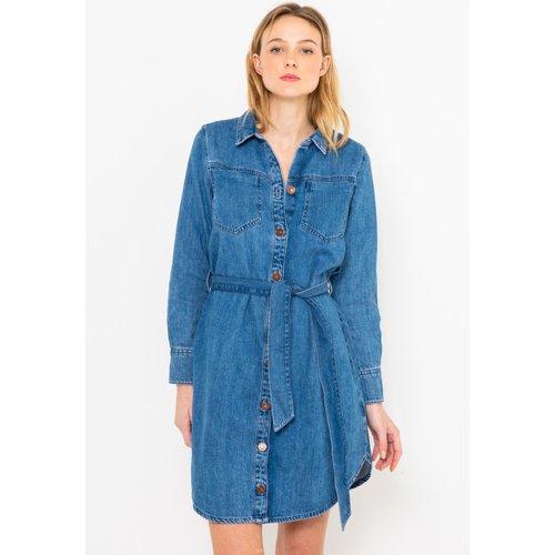 Robe chemise en jean - CAMAIEU - Modalova