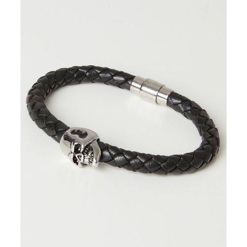 Bracelet en cuir tressé crâne - Joe Browns - Modalova