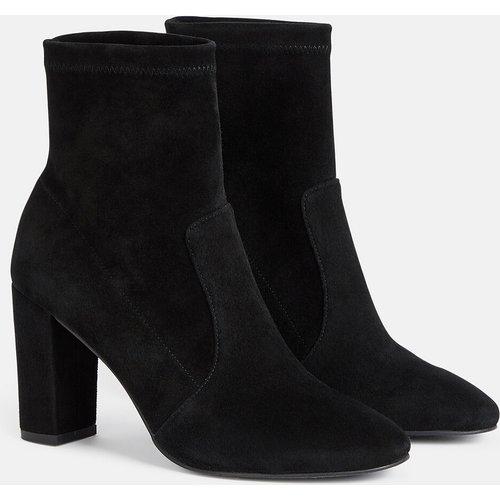 Boots cuir velours à talons Taddee - MINELLI - Modalova