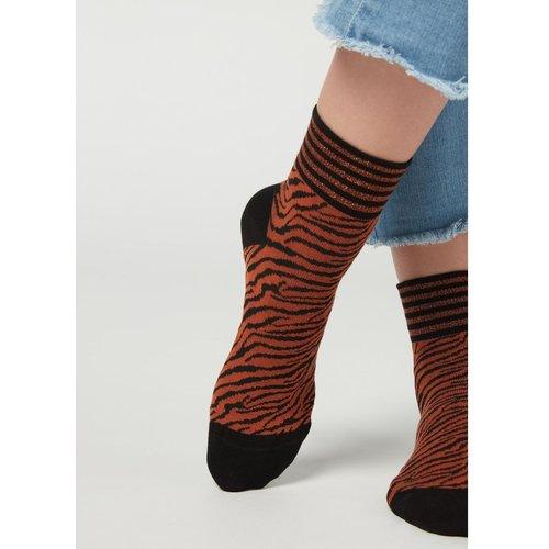 Chaussettes courtes en coton à motifs animaliers - CALZEDONIA - Modalova