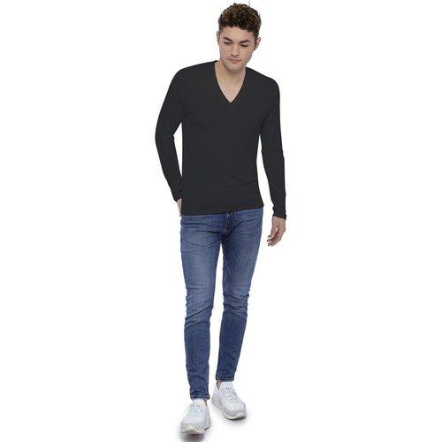 Tee-shirt col V profond manches longues en modal JULIEN - RENDEZ-VOUS PARIS - Modalova