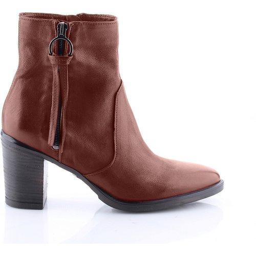 Boots cuir talon haut - MJUS - Modalova