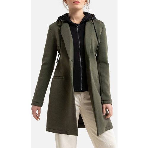 Manteau mi-long avec doublure à capuche - IKKS - Modalova