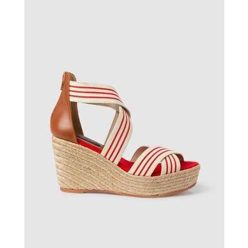 Chaussures compensées avec brides élastiques - ZENDRA - Modalova