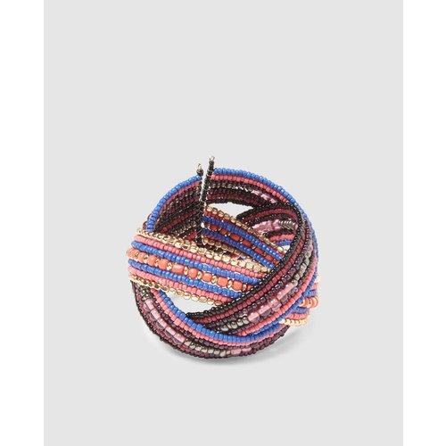 Bracelet tressé perles - FORMULA JOVEN - Modalova