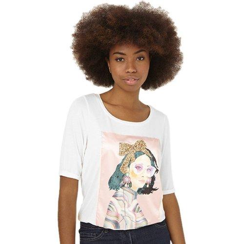 T-Shirt col rond uni - RIU PARIS - Modalova