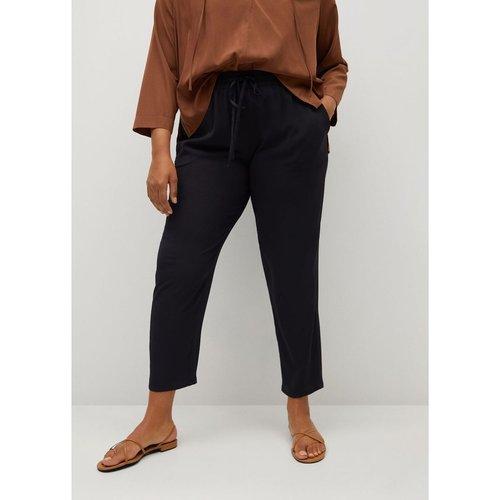 Pantalon baggy cordon - Violeta by Mango - Modalova