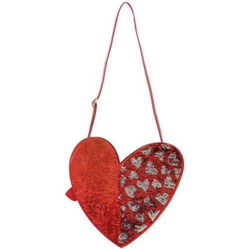 Sac à bandoulière en forme de coeur à paillettes - AGATHA RUIZ DE LA PRADA - Modalova