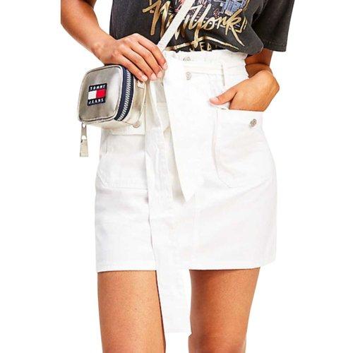 Mini jupe taille haute ceinture noeud - Tommy Hilfiger - Modalova