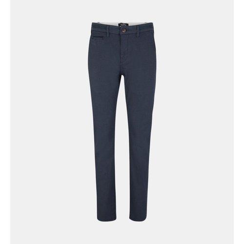 Pantalon Chino Kunzo Droit Stretch Micro Pois - GALERIES LAFAYETTE - Modalova