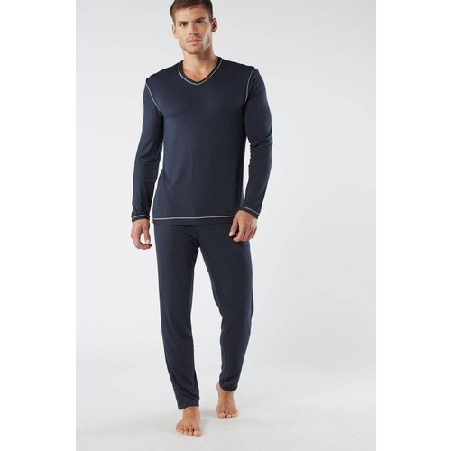 Pyjama long en micro - INTIMISSIMI - Modalova