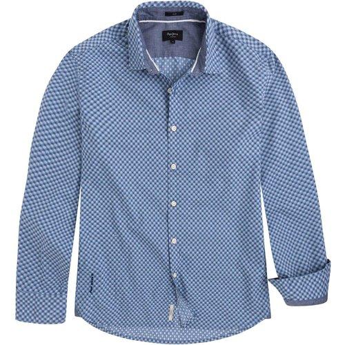 Chemise MAYWARD droite imprimée, pur coton - Pepe Jeans - Modalova