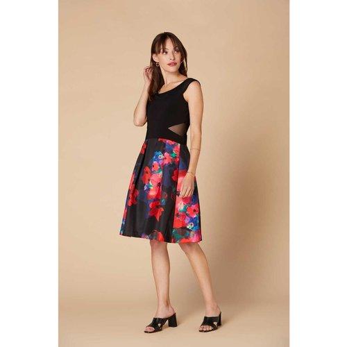 Robe courte jupe imprimé fleuri - Modèle Carolus - DERHY - Modalova