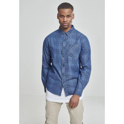 Chemise à carreaux avec poche - URBAN CLASSICS - Modalova