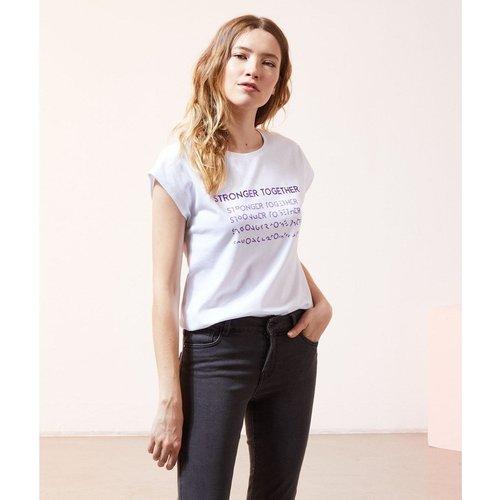 T-shirt col rond manches courtes MEMORIES - ETAM - Modalova