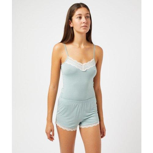 Bas de pyjama short pyjama bords dentelle CIDDY - ETAM - Modalova