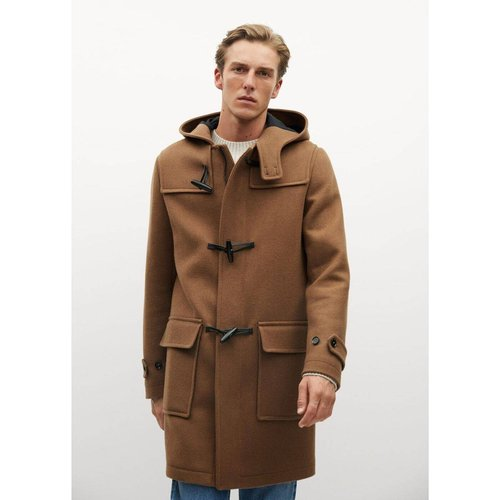Manteau long laine recyclée - mango man - Modalova