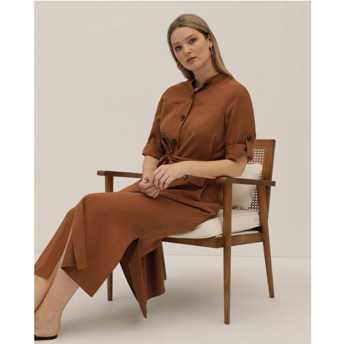 Robe Collection unie avec boutons - COUCHEL - Modalova
