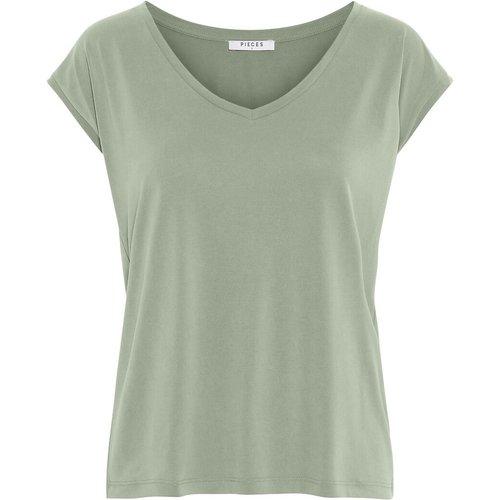 T-shirt, col V - Pieces - Modalova