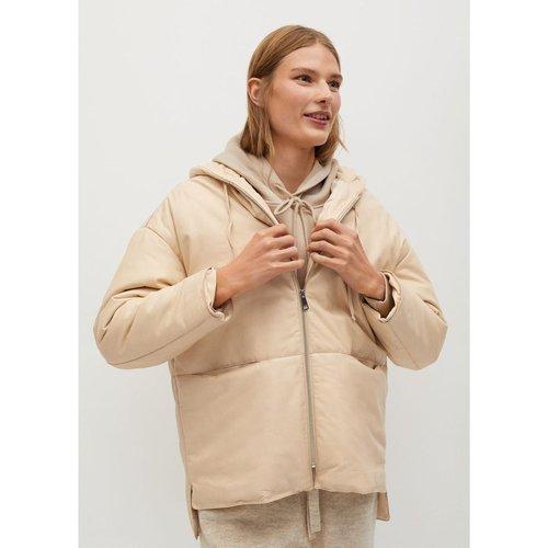 Manteau cuir matelassé - Mango - Modalova