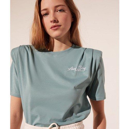 T-shirt col rond manches courtes GARCELLE - ETAM - Modalova