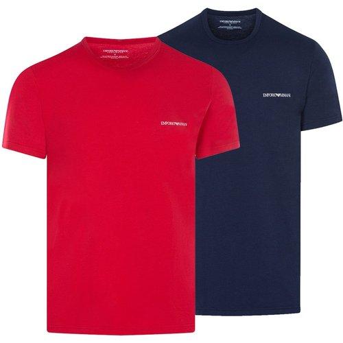 Tee-shirts coton col rond, lot de 2 - Emporio Armani - Modalova