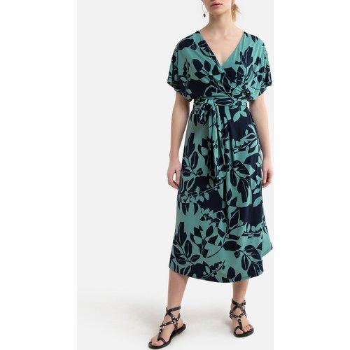 Robe col V à manches courtes et motifs - Esprit - Modalova