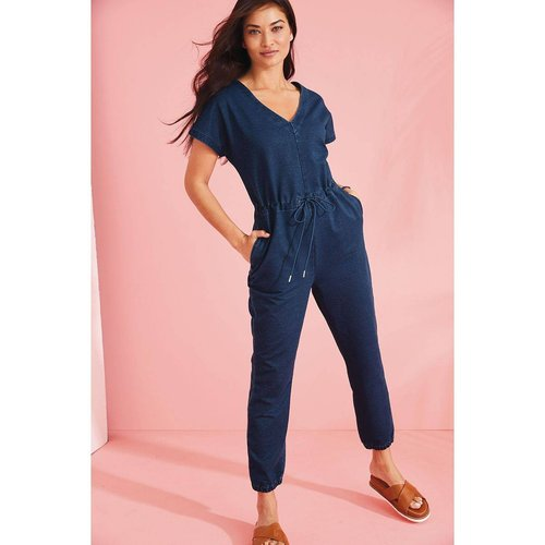 Combinaison en jean et jersey stretch doux - Next - Modalova