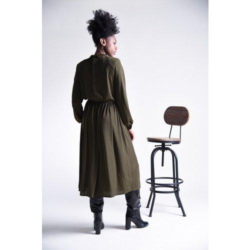 Robe longue col polo - MOLLY BRACKEN - Modalova