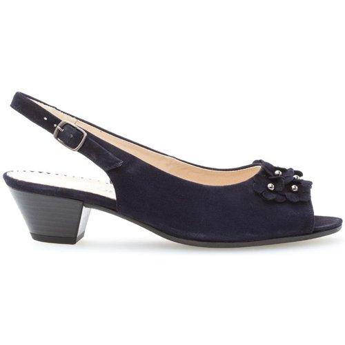 Sandales cuir talon façon block - Gabor - Modalova