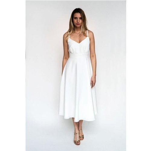 Robe midi de mariée, made in France - HARPE - Modalova