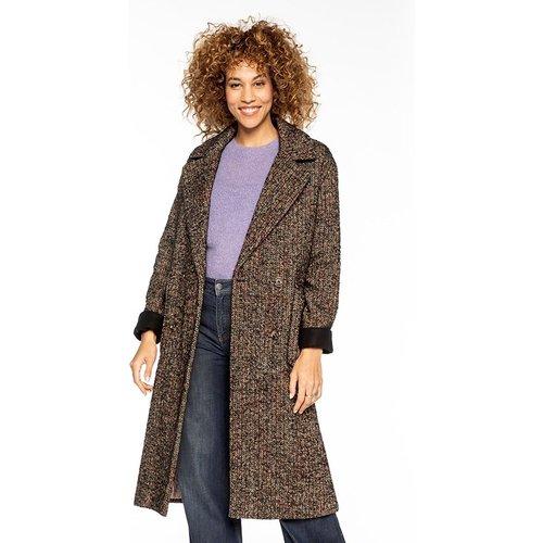Manteau long en laine tweed oversize VALENCE - TRENCH AND COAT - Modalova