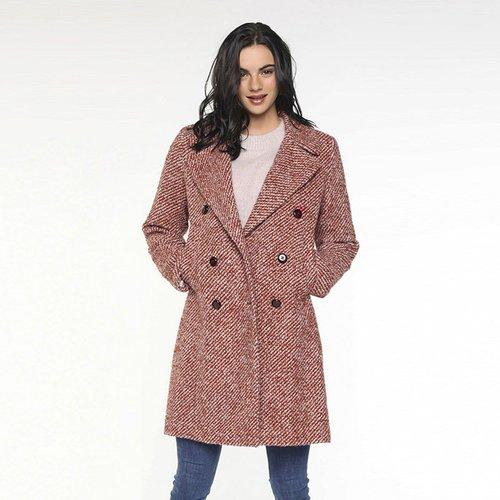 Manteau en tweed bouclé de laine mi-long CAUDRY - TRENCH AND COAT - Modalova