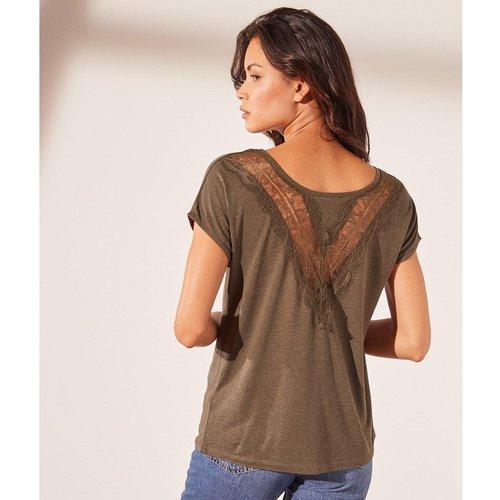 T-shirt détails dos dentelle LUIGI - ETAM - Modalova